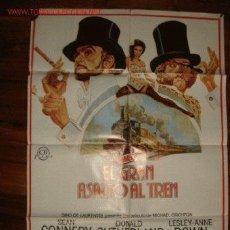 Cine: CARTEL ORIGINAL DE LA PELÍCULA EL GRAN ASALTO AL TREN . Lote 27516590