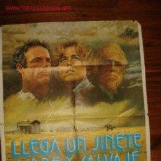 Cine: CARTEL ORIGINAL DE LA PELÍCULA LLEGA UN JINETE LIBRE Y SALVAJE . Lote 27516589