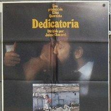 Cine: NU69 DEDICATORIA AMPARO MUÑOZ JAIME CHAVARRI POSTER ORIGINAL 70X100 ESTRENO. Lote 25763132