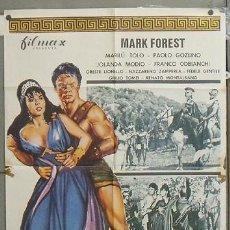 Cine: NU95 EL MAGNIFICO GLADIADOR MARK FOREST MARILU TOLO PEPLUM POSTER ORIGINAL 70X100 ESTRENO. Lote 25765614