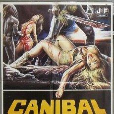 Cine: NV24 CANIBAL FEROZ UMBERTO LENZI POSTER ORIGINAL 70X100 ESTRENO. Lote 25771323