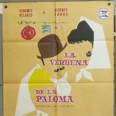 Cine: NV73 LA VERBENA DE LA PALOMA CONCHA VELASCO VICENTE PARRA POSTER ORIGINAL 70X100 ESTRENO. Lote 25812548