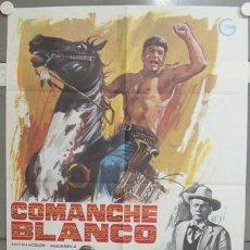Cine: NV88 COMANCHE BLANCO WILLIAM SHATNER JOSEPH COTTEN SPAGHETTI POSTER ORIGINAL 70X100 ESPAÑOL. Lote 25814758