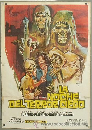 NW11 LA NOCHE DEL TERROR CIEGO AMANDO DE OSSORIO TEMPLARIOS POSTER ORIGINAL 70X100 ESTRENO (Cine - Posters y Carteles - Terror)