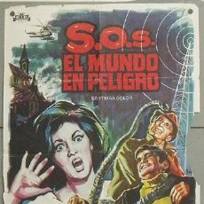 Cine: NW15 SOS EL MUNDO EN PELIGRO PETER CUSHING SOLIGO POSTER ORIGINAL 70X100 ESTRENO B. Lote 25886968