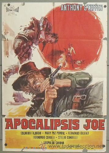 NW19 APOCALIPSIS JOE ANTHONY STEFFEN SPAGHETTI POSTER ORIGINAL 70X100 ESTRENO (Cine - Posters y Carteles - Westerns)