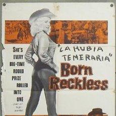 Cine: TV17D BORN RECKLESS MAMIE VAN DOREN POSTER ORIGINAL AMERICANO 70X105. Lote 25901923