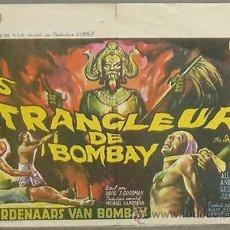Cine: XN25D THE STRANGLERS OF BOMBAY HAMMER TERENCE FISHER POSTER ORIGINAL BELGA 37X55. Lote 25906514