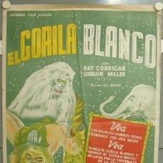 Cine: YZ77D EL GORILA BLANCO / THE WHITE GORILLA RAY CORRIGAN POSTER ORIGINAL ARGENTINO 75X110 LITOGRAFIA. Lote 25906644