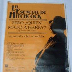 Cine: CARTEL PERO ¿QUIEN MATO A HARRY? - LO ESENCIAL DE HITCHCOCK. Lote 25912014