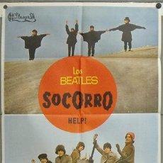 Cine: NY04 HELP SOCORRO THE BEATLES POSTER ORIGINAL 70X100 ESTRENO. Lote 25923871
