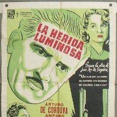 Cine: NY07 LA HERIDA LUMINOSA AMPARO RIVELLES DE CORDOVA POSTER ORIGINAL ARGENTINO 75X110 LITOGRAFIA. Lote 25923964