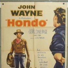 Cine: OL98D HONDO JOHN WAYNE 3D POSTER ORIGINAL ARGENTINO 75X110 LITOGRAFIA. Lote 25923976