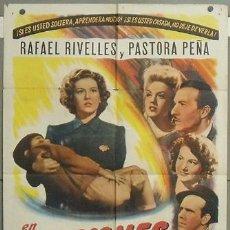 Cine: NY11 LECCIONES BUEN AMOR PASTORA PEÑA RAFAEL RIVELLES RAFAEL GIL POSTER ORIGINAL AMERICANO 70X105. Lote 25924015