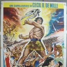Cine: NX34 SANSON Y DALILA CECIL B. DEMILLE HEDY LAMARR VICTOR MATURE POSTER ORIGINAL ITALIANO 140X200. Lote 25944425