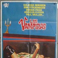 Cine: AAV65D LAS VAMPIRAS JESUS FRANCO SOLEDAD MIRANDA JANO POSTER ORIGINAL 70X100 ESTRENO. Lote 25969842