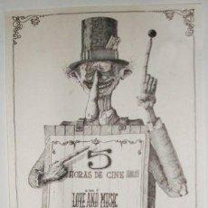 Cine: CARTEL MARATON DE CINE - MUSICA E IMAGEN - 1978. Lote 25970926