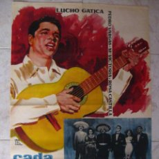 Cine: CADA QUIEN CON SU MUSICA - LUCHO GATICA. 1960. . Lote 26038616