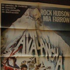 Cine: AVALANCHA - ROCK HUDSON - POSTER ORIGINAL CINE - 70 X 100. Lote 26192836