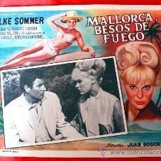 Cine: BAHIA DE PALMA 1962 MALLORCA BESOS DE FUEGO (LOBBY CARD ORIGINAL) ELKE SOMMER DIRECTOR JUAN BOSCH. Lote 26255456