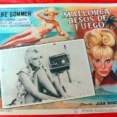 Cine: BAHIA DE PALMA 1962 MALLORCA BESOS DE FUEGO (LOBBY CARD ORIGINAL) ELKE SOMMER DIRECTOR JUAN BOSCH. Lote 26255478