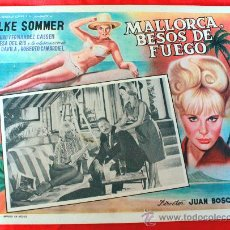 Cine: BAHIA DE PALMA 1962 MALLORCA BESOS DE FUEGO (LOBBY CARD ORIGINAL) ELKE SOMMER DIRECTOR JUAN BOSCH. Lote 26255521
