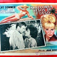 Cine: BAHIA DE PALMA 1962 MALLORCA BESOS DE FUEGO (LOBBY CARD ORIGINAL) ELKE SOMMER DIRECTOR JUAN BOSCH. Lote 26255574