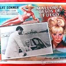 Cine: BAHIA DE PALMA 1962 MALLORCA BESOS DE FUEGO (LOBBY CARD ORIGINAL) ELKE SOMMER DIRECTOR JUAN BOSCH. Lote 26255621