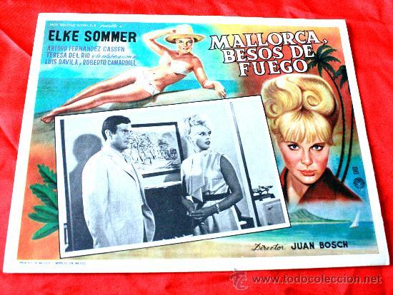 BAHIA DE PALMA 1962 MALLORCA BESOS DE FUEGO (LOBBY CARD ORIGINAL) ELKE SOMMER DIRECTOR JUAN BOSCH (Cine - Posters y Carteles - Clasico Español)