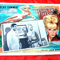 Cine: BAHIA DE PALMA 1962 MALLORCA BESOS DE FUEGO (LOBBY CARD ORIGINAL) ELKE SOMMER DIRECTOR JUAN BOSCH. Lote 26255787
