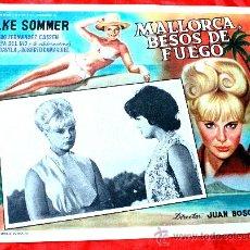 Cine: BAHIA DE PALMA 1962 MALLORCA BESOS DE FUEGO (LOBBY CARD ORIGINAL) ELKE SOMMER DIRECTOR JUAN BOSCH. Lote 26255831