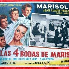Cine: LAS 4 BODAS DE MARISOL 1967 (LOBBY CARD ORIGINAL) MARISOL ISABEL GARCES EMILIO GUTIERREZ CABA. Lote 26349378