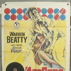 Cine: NY56 ACOSADO WARREN BEATTY POSTER ORIGINAL 70X100 ESTRENO. Lote 26371670