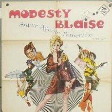 Cine: NY68 MODESTY BLAISE MONICA VITTI ALBERICIO POSTER ORIGINAL 70X100 ESTRENO. Lote 26382793