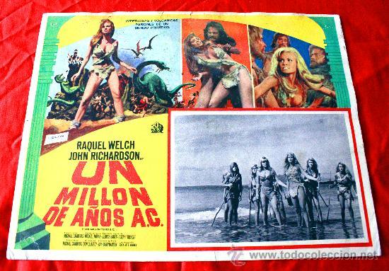 HACE UN MILLON DE AÑOS 1966 (LOBBY CARD ORIGINAL) RAQUEL WELCH (Cine - Posters y Carteles - Aventura)