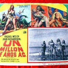 Cine: HACE UN MILLON DE AÑOS 1966 (LOBBY CARD ORIGINAL) RAQUEL WELCH. Lote 26407510