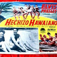 Cine: BLUE HAWAII (AMOR EN HAWAII) 1961 (LOBBY CARD ORIGINAL) ELVIS PRESLEY. Lote 134105755
