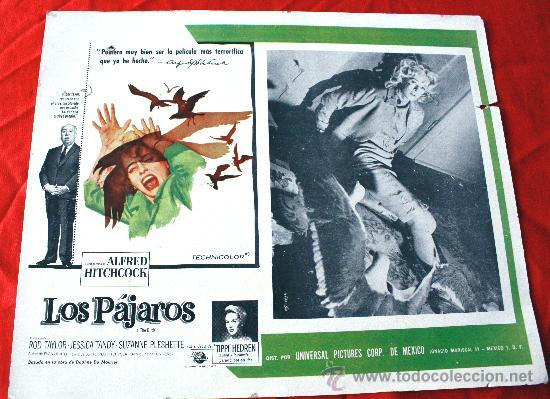 LOS PÁJAROS 1963 (LOBBY CARD ORIGINAL) ALFRED HITCHCOCK (Cine - Posters y Carteles - Suspense)