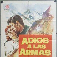 Cine: OA13 ADIOS A LAS ARMAS ROCK HUDSON JENNIFER JONES JANO POSTER ORIGINAL 70X100 ESTRENO. Lote 26583776