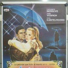 Cine: OA81 LOS PARAGUAS DE CHERBURGO JACQUES DEMY CATHERINE DENEUVE POSTER ORIGINAL 70X100 ESPAÑOL. Lote 26661427