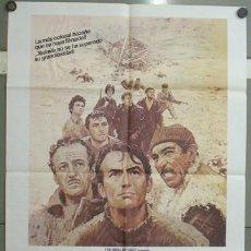 Cine: OB03 LOS CAÑONES DE NAVARONE GREGORY PECK POSTER ORIGINAL 70X100 ESPAÑOL R-82. Lote 26680818