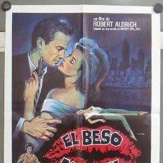 Cine: OB26 EL BESO MORTAL KISS ME DEADLY ROBERT ALDRICH MATAIX POSTER ORIGINAL 50X70 ESTRENO. Lote 26698959