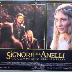 Cine: OC09 EL SEÑOR DE LOS ANILLOS LA COMUNIDAD DEL ANILLO SET DE 6 POSTERS ORIGINAL ITALIANO 47X68. Lote 26996459