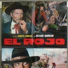 Cine: OC44 TEXAS EL ROJO RICHARD HARRISON SPAGHETTI POSTER ORIGINAL ITALIANO 68X94. Lote 27003484