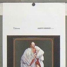 Cine: OC69 EL CASANOVA FEDERICO FELLINI DONALD SUTHERLAND POSTER ORIGINAL ITALIANO 33X70. Lote 27018131