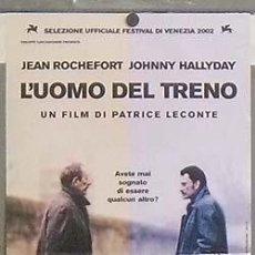 Cine: OC76 EL HOMBRE DEL TREN JOHNNY HALLYDAY PATRICE LECONTE POSTER ORIGINAL 33X70 ITALIANO. Lote 289262533