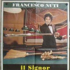 Cine: OC91 BILLAR FRANCESCO NUTI IL SIGNOR QUINDICIPALLE POSTER ORIGINAL ITALIANO 100X140. Lote 27021607