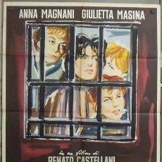 Cine: OC99 INFIERNO EN LA CIUDAD ANNA MAGNANI GIULETTA MASINA BRINI POSTER ORIGINAL ITALIANO 100X140. Lote 27027457