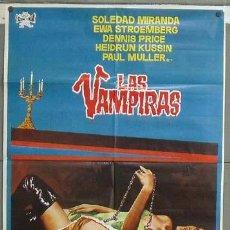 Cine: OD44 LAS VAMPIRAS JESUS FRANCO SOLEDAD MIRANDA POSTER ORIGINAL 70X100 ESTRENO. Lote 27050985