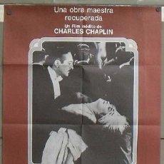Cine: OD47 UNA MUJER DE PARIS CHARLES CHAPLIN EDNA PURVIANCE POSTER ORIGINAL ESPAÑOL 60X90. Lote 27051189